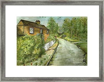 Framed Print featuring the painting Old English Cottage by Teresa White