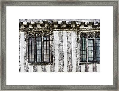 Old English House Framed Print by Tom Gowanlock