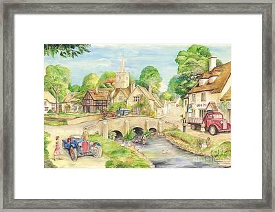 Old English Village Framed Print by Morgan Fitzsimons