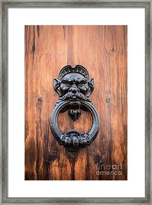 Old Face Door Knocker Framed Print