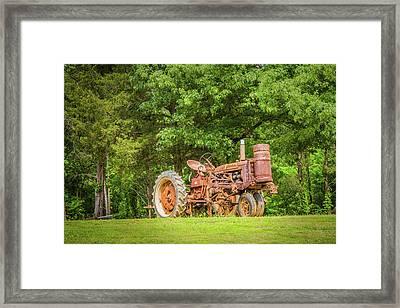 Old Faithful Framed Print by Barry Jones