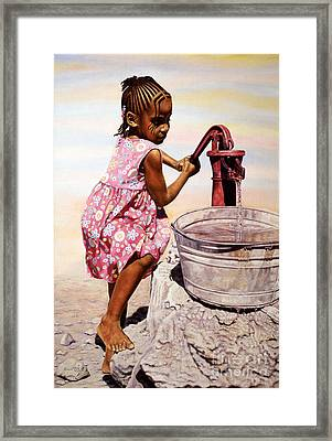 Old Faithful Framed Print