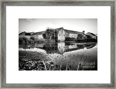Old Farm And Pond In France Framed Print