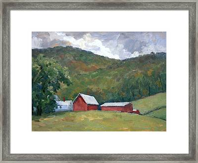 Old Farm Berkshires Framed Print