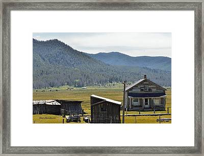 Old Farm Buildings Framed Print by Kae Cheatham