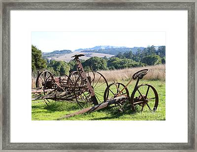 Old Farm Equipment . 7d9744 Framed Print by Wingsdomain Art and Photography