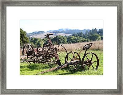 Old Farm Equipment . 7d9744 Framed Print