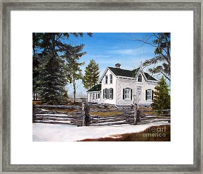 Framed Print featuring the painting Old Farm House by Anna-Maria Dickinson