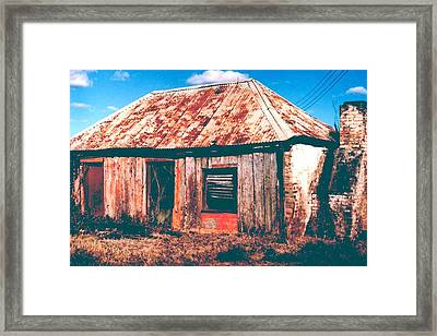 Old Farm House Framed Print by Gary Wonning