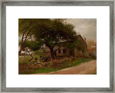 Old Farm House In The Catskills Framed Print by Arthur Parton