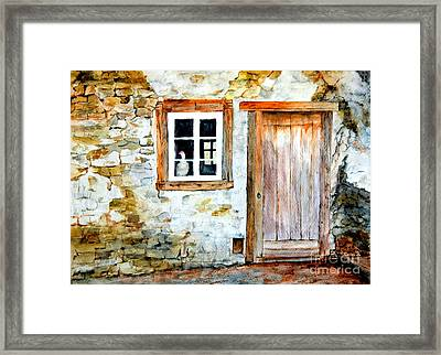 Old Farm House Framed Print by Sher Nasser