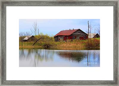 Old Farm Houses Framed Print by Anthony Djordjevic
