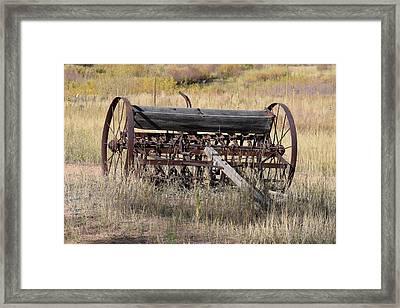Farm Implament Westcliffe Co Framed Print