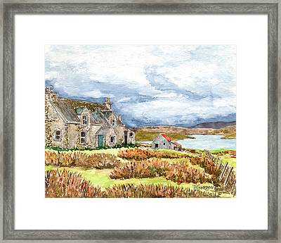 Old Farm Isle Of Lewis Scotland Framed Print
