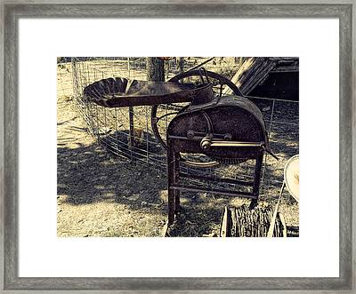 Old Farm Machinery Framed Print by Theresa Campbell