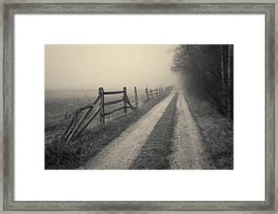 Old Farm Road Toned Framed Print
