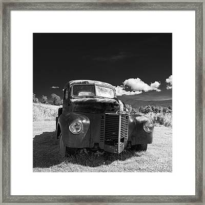 Old Farm Truck Infrared Framed Print