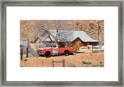 Old Farm Trucks Along Route 66 Framed Print