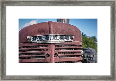 Old Farmall Tractor Grill And Nameplate Framed Print by Edward Fielding