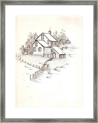 Old Farmhouse Framed Print by Barbara Cleveland