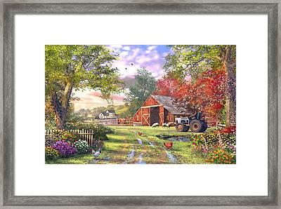 Old Farmhouse Framed Print by Dominic Davison