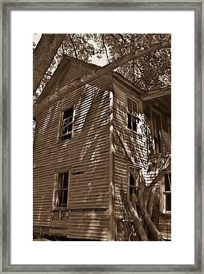 Old Farmhouse In Summertime Framed Print