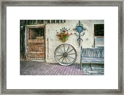 Framed Print featuring the photograph Old Farmhouse by Jutta Maria Pusl