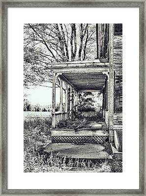 Old Farmhouse Porch Framed Print by HD Connelly