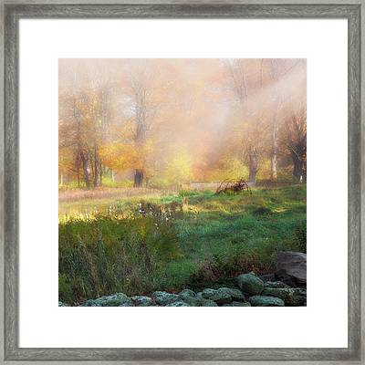 Old Farmland Square Framed Print by Bill Wakeley