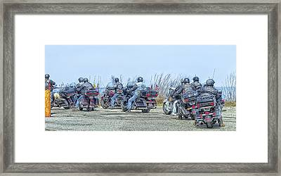 Old Fart Riders Framed Print