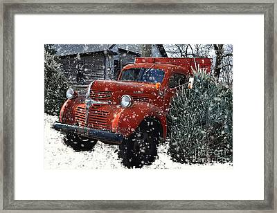 Old Fashion Country Christmas  Framed Print