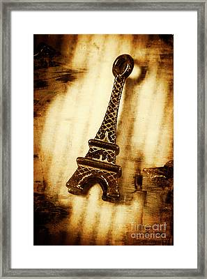 Old Fashion Eiffel Tower Souvenir Framed Print