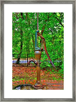 Old Fashion Hand Water Pump Framed Print