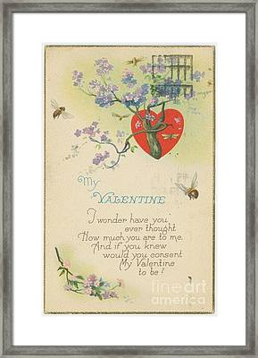 Old Fashion Valentine One Framed Print