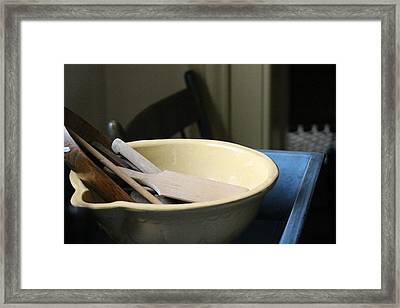 Old Fashioned Baking Tools Framed Print