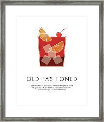 Old Fashioned Classic Cocktail -  Minimalist Print Framed Print