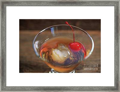 Old Fashioned Cocktail Framed Print by Edward Fielding