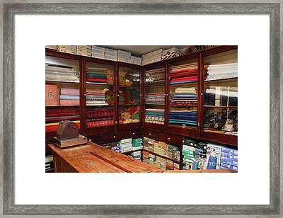 Old-fashioned Fabric Shop Framed Print by Gaspar Avila