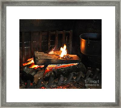 Old Fashioned Fireplace Framed Print