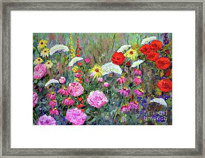 Old Fashioned Garden Framed Print by Claire Bull
