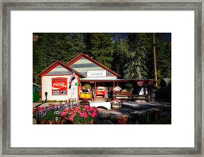 Old Fashioned General Store Framed Print