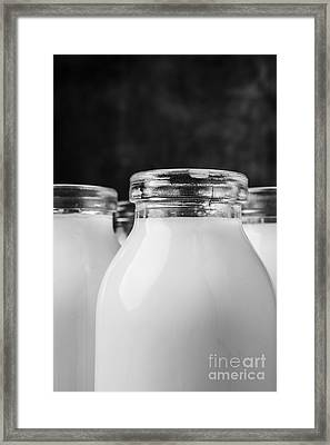 Old Fashioned Milk Bottles 4 Framed Print by Edward Fielding