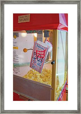 Old-fashioned Popcorn Machine Framed Print by Steve Ohlsen