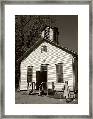 Old-fashioned School House Framed Print by Emily Kelley