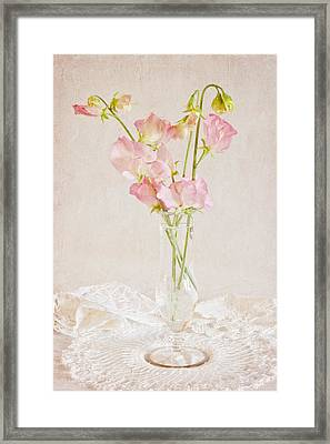 Old Fashioned Sweet Peas Framed Print by Sandra Foster