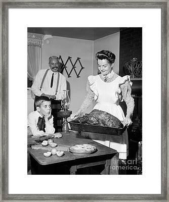Old-fashioned Thanksgiving Dinner Framed Print