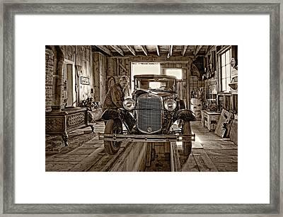 Old Fashioned Tlc Monochrome Framed Print