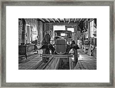 Old Fashioned Tlc - Paint Bw Framed Print by Steve Harrington