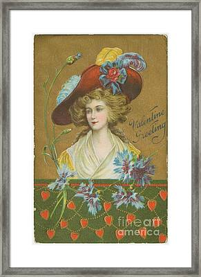 Old Fashioned Valentine Four Framed Print