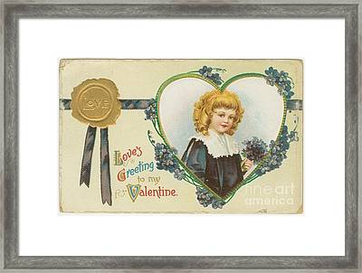 Old Fashioned Valentine Three Framed Print